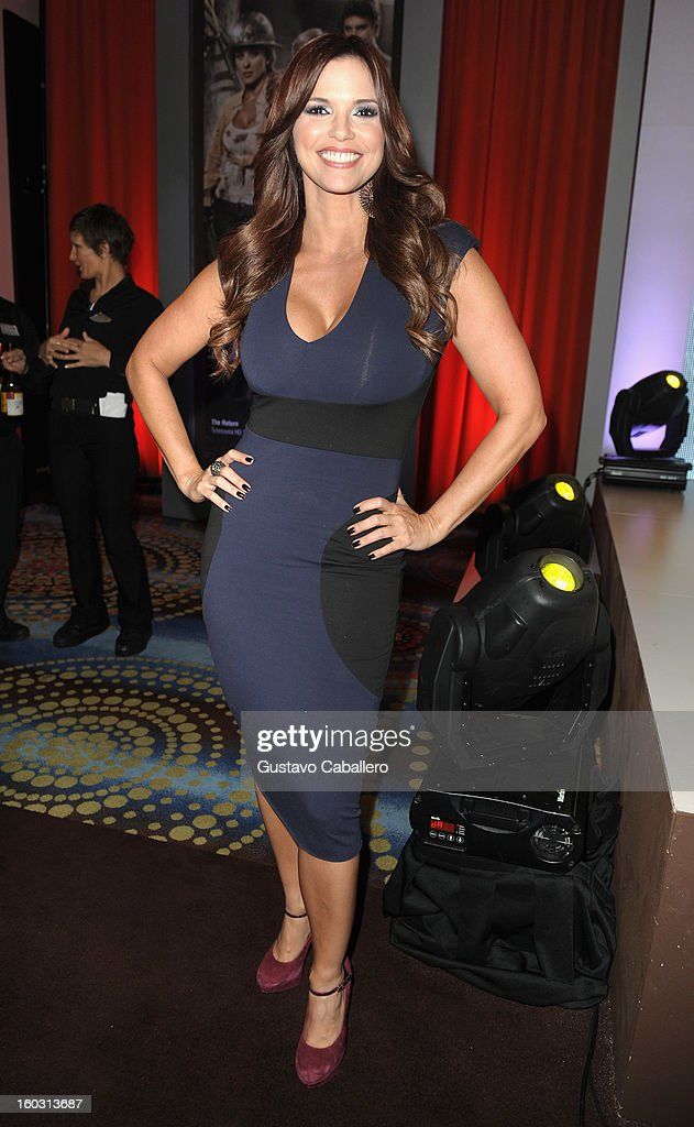 Rashel Diaz attends Telemundo NATPE 2013 Press Conference And Luncheon at Eden Roc Hotel on January 28, 2013 in Miami Beach, Florida.