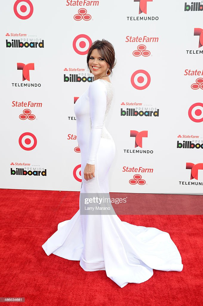 <a gi-track='captionPersonalityLinkClicked' href=/galleries/search?phrase=Rashel+Diaz&family=editorial&specificpeople=2235251 ng-click='$event.stopPropagation()'>Rashel Diaz</a> attends the 2014 Billboard Latin Music Awards at Bank United Center on April 24, 2014 in Miami, Florida.