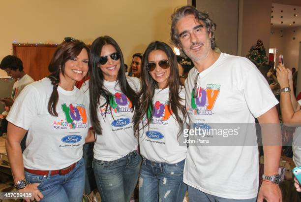 Rashel Diaz Gaby Espino Catherine Siachoque and Miguel Veroni participate in Amigos For Kids 21st Annual Holiday Toy Drive on December 15 2013 in...