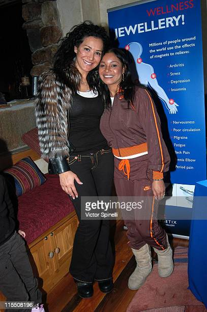 Rashel Pouri and Tamala Jones during 2007 Park City TMG International Luxury Suite Day 4 at Little Belle in Park City Utah United States