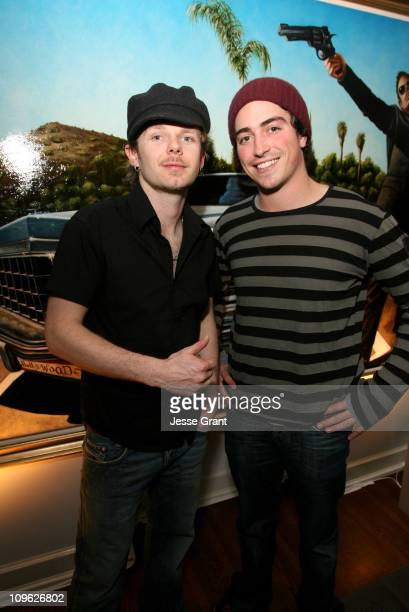 Rasher and Ben Feldman during Rasher Exhibit in Hollywood March 16 2006 at Penthouse @ Chateau Marmont in Hollywood CA