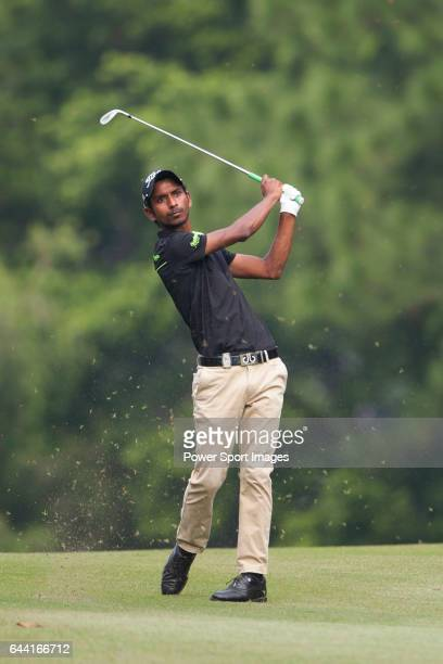 Rashid Khan from India hits the ball during Hong Kong Open golf tournament at the Fanling golf course on 22 October 2015 in Hong Kong China