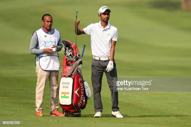 Rashid Khan of India picture during round one of the Bashundhara Bangladesh Open at Kurmitola Golf Club on February 1 2017 in Dhaka Bangladesh