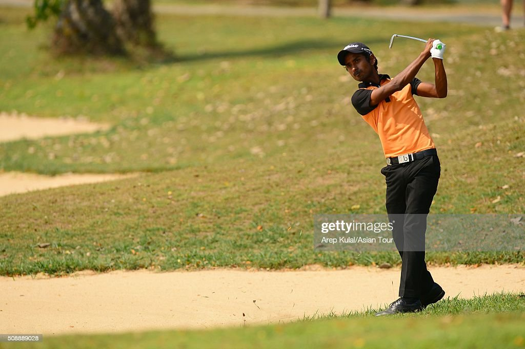 Rashid Khan of India pictured during the final round of the Leopalace21 Myanmar Open at Royal Mingalardon Golf and Country Club on February 7, 2016 in Yangon, Myanmar.