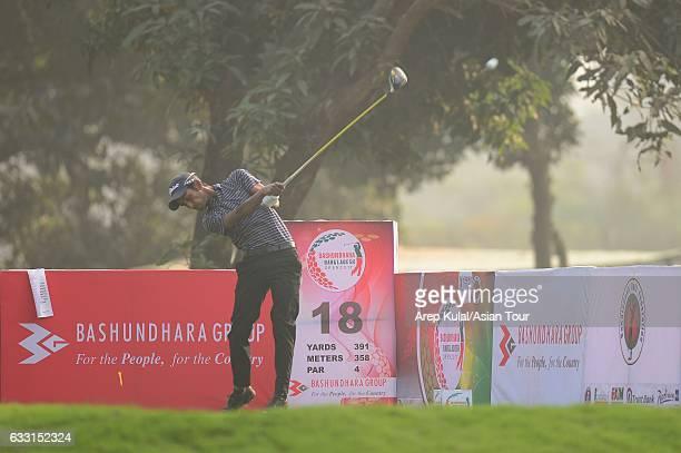 Rashid Khan of India pictured during the Pro Am tournament ahead of Bashundhara Bangladesh Open on January 31 2017 in Dhaka Bangladesh