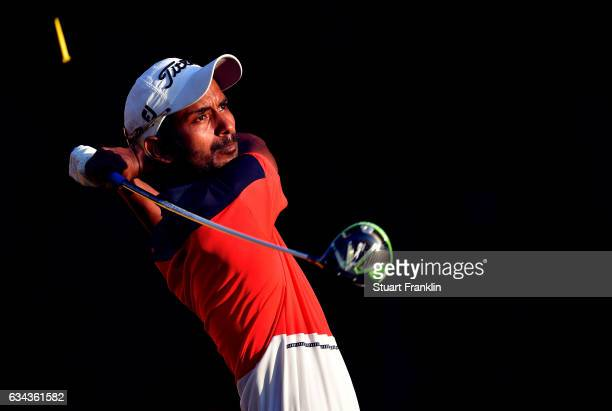 Rashid Khan of India plays a shot during Day One of the Maybank Championship Malaysia at Saujana Golf Club on February 9 2017 in Kuala Lumpur Malaysia