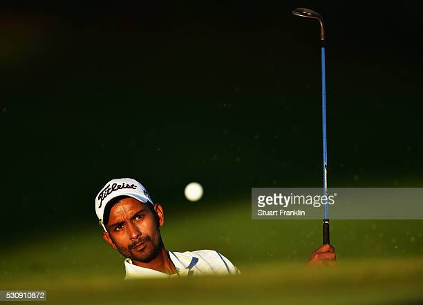 Rashid Khan of India plays a shot during the first round of AfrAsia Bank Mauritius Open at Four Seasons Golf Club Mauritius at Anahita on May 12 2016...