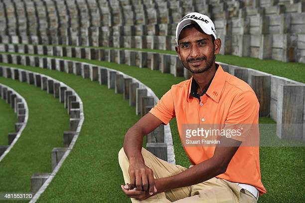 Rashid Khan of India poses for a picture prior to the start of the Omega European Masters at CranssurSierre Golf Club on July 22 2015 in CransMontana...