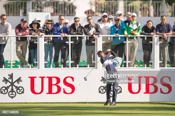 Rashid Khan of India tees off the first hole during the 58th UBS Hong Kong Open as part of the European Tour on 08 December 2016 at the Hong Kong...