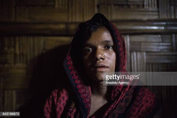 COX'S BAZAR BANGLADESH FEBRUARY 20 Rashida Begum one of the women who were raped by Myanmar armed forces members takes shelter at Leda unregistered...