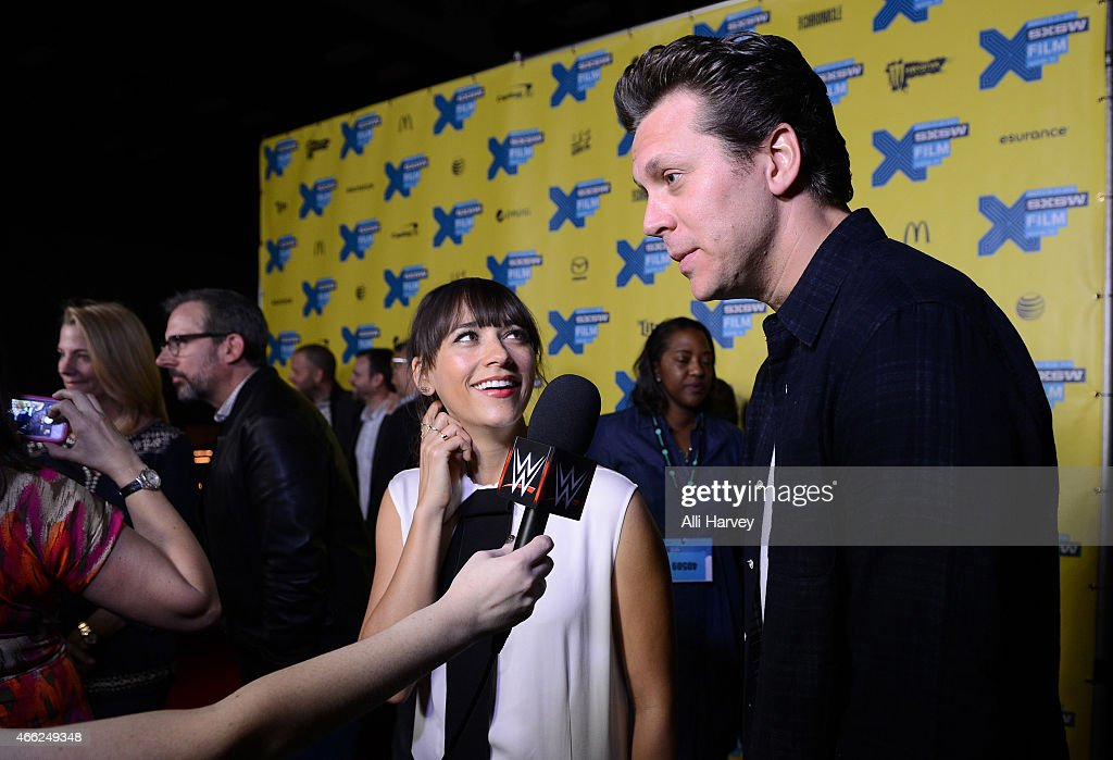 Rashida Jones and Hayes MacArthur attend the TBS 'Angie Tribeca' Premiere at SXSW at Austin Convention Center on March 14 2015 in Austin Texas