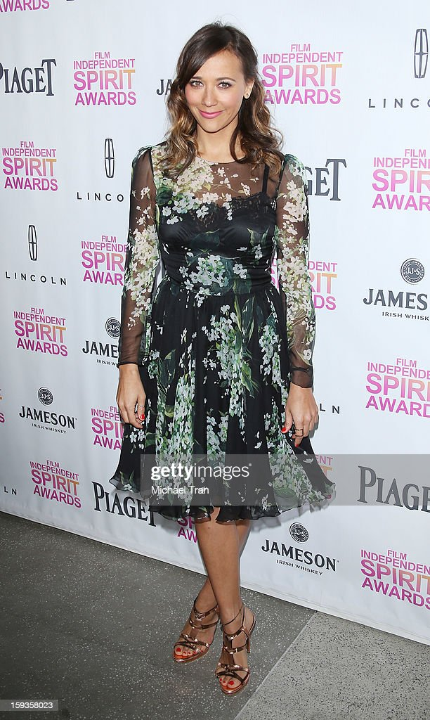 Rashida Jones arrives at the 2013 Film Independent Filmmaker Grant And Spirit Award nominees brunch held at BOA Steakhouse on January 12, 2013 in West Hollywood, California.