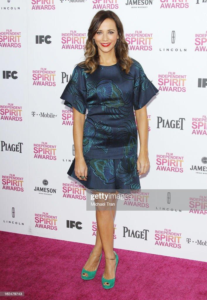 Rashida Jones arrives at the 2013 Film Independent Spirit Awards held on February 23, 2013 in Santa Monica, California.