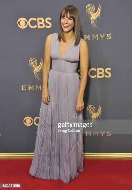 Rashida Jones arrives at the 69th Annual Primetime Emmy Awards at Microsoft Theater on September 17 2017 in Los Angeles California