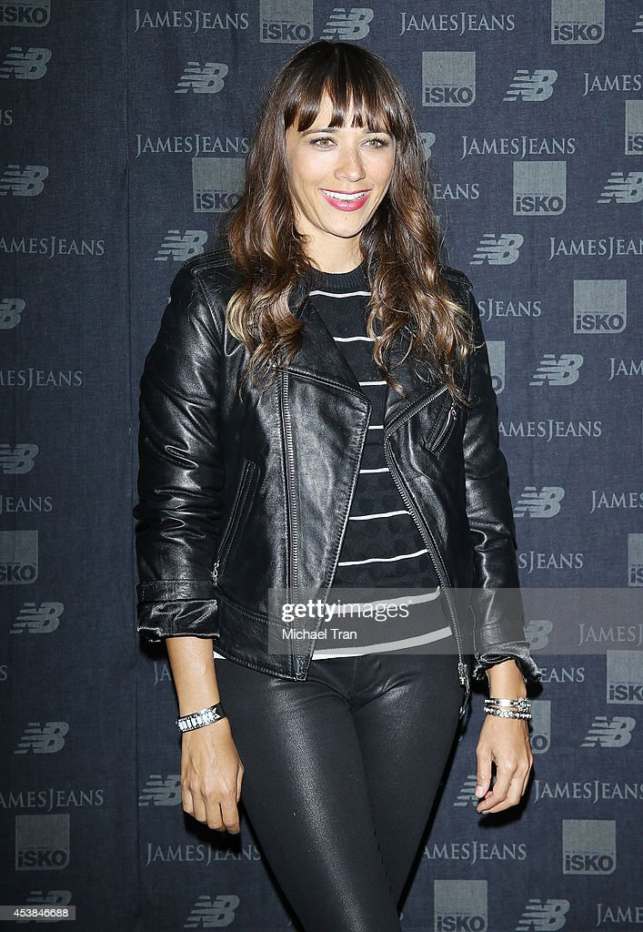 <a gi-track='captionPersonalityLinkClicked' href=/galleries/search?phrase=Rashida+Jones&family=editorial&specificpeople=2133481 ng-click='$event.stopPropagation()'>Rashida Jones</a> arrives at the dance party with New Balance and James Jeans powered by ISKO held at a private residence on August 19, 2014 in Beverly Hills, California.