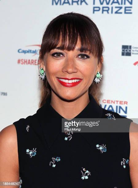 Rashida Jones attends The 16th Annual Mark Twain Prize For American Humor at John F Kennedy Center for the Performing Arts on October 20 2013 in...