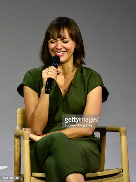 Rashida Jones attends the Apple Store Soho Presents Meet The Actor Rashida Jones 'Angie Tribeca' at Apple Store Soho on January 15 2016 in New York...