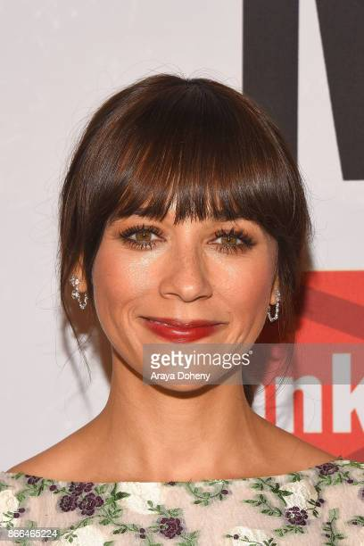 Rashida Jones attends the International Women's Media Foundation 2017 Courage in Journalism Awarddss at NeueHouse Hollywood on October 25 2017 in Los...