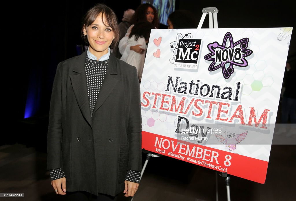 Rashida Jones attends the MGA Entertainment, Cast of Netflix's Project Mc2, and Rashida Jones celebration of National S.T.E.A.M. Day and the premiere of part 6 in L.A. at Google Headquarters on November 7, 2017 in Venice, California.