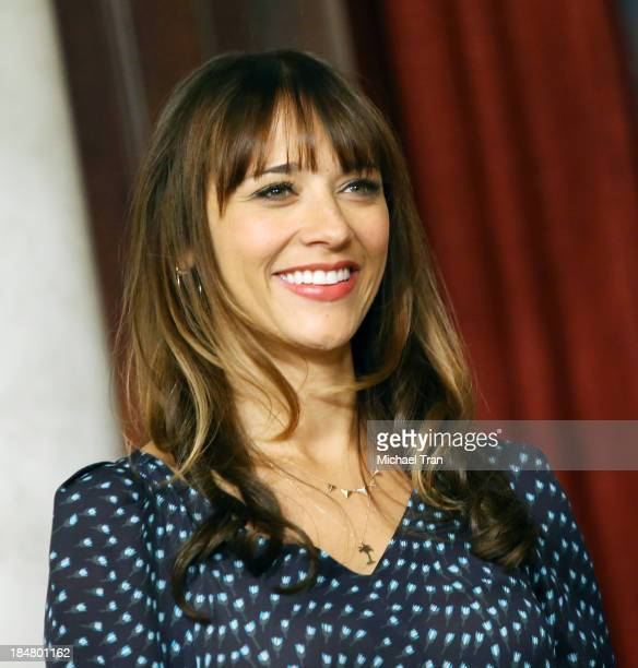 Rashida Jones attends the 'Parks And Recreation' 100th episode celebration held at CBS Studios Radford on October 16 2013 in Studio City California