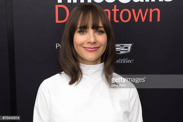 Rashida Jones attends TimesTalks presents Rashida Jones in conversation with Jenna Wortham at Cadillac House on April 19 2017 in New York City