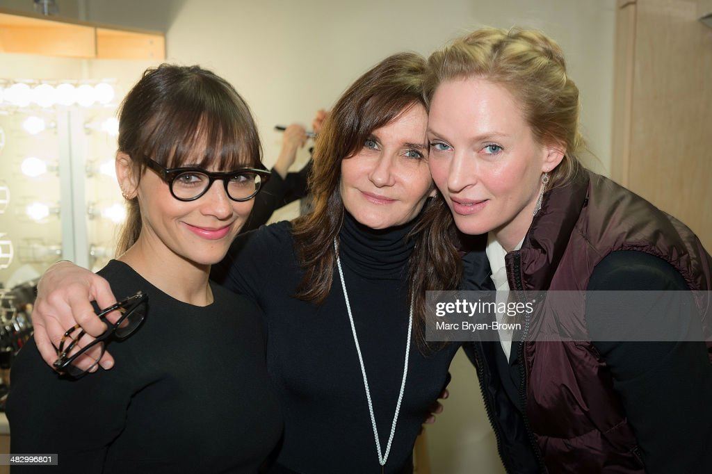 <a gi-track='captionPersonalityLinkClicked' href=/galleries/search?phrase=Rashida+Jones&family=editorial&specificpeople=2133481 ng-click='$event.stopPropagation()'>Rashida Jones</a>, Kyle Gibson, Executive Producer of Women in the World 2014 and <a gi-track='captionPersonalityLinkClicked' href=/galleries/search?phrase=Uma+Thurman&family=editorial&specificpeople=171973 ng-click='$event.stopPropagation()'>Uma Thurman</a> attend the 5th Annual Women In The World Summit at David H. Koch Theater, Lincoln Center on April 5, 2014 in New York City.