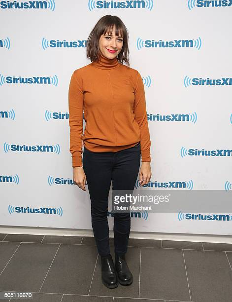 Rashida Jones visits at SiriusXM Studios on January 15 2016 in New York City