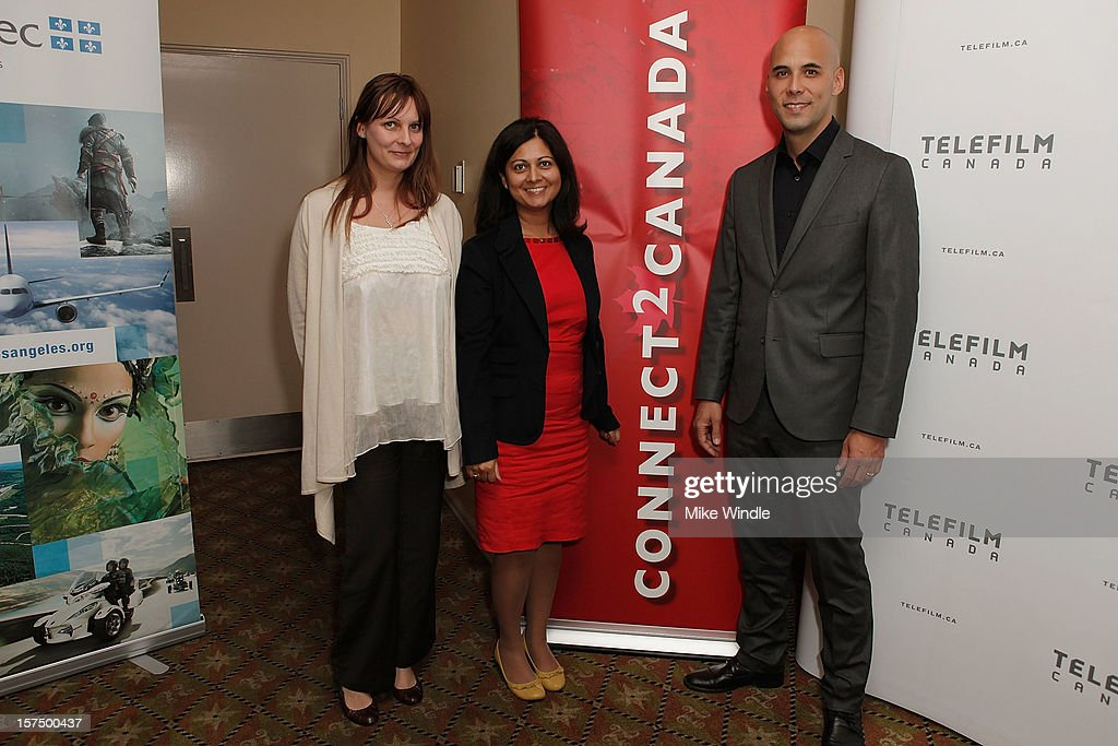 Rashma Agarwal (C) and director Kim Nguyen attend during Tribeca Film and Telefilm Canada host a special screening for Kim Nguyen's WAR WITCH Official Entry for the 85th Academy Awards - Foreign Language on December 3, 2012 in Los Angeles, California.