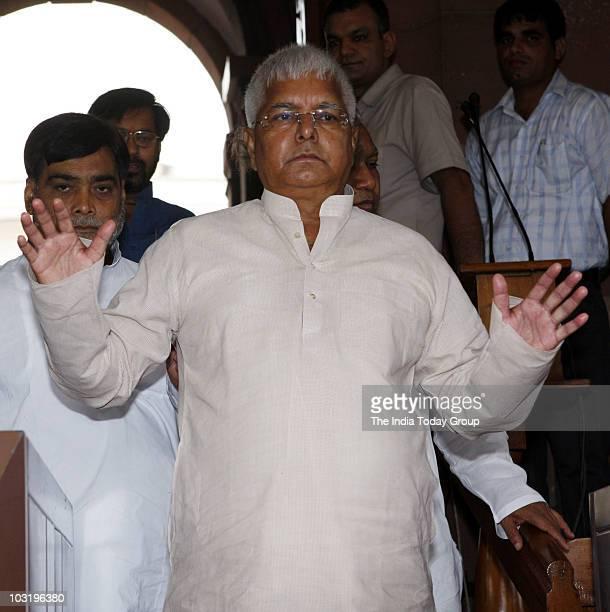 Rashtriya Janata Dal chief Lalu Prasad attends the parliament session in New Delhi on Friday July 30 2010
