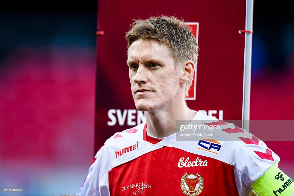 <a gi-track='captionPersonalityLinkClicked' href=/galleries/search?phrase=Rasmus+Elm&family=editorial&specificpeople=5491739 ng-click='$event.stopPropagation()'>Rasmus Elm</a> of Kalmar FF before the match during the Allsvenskan match between Kalmar FF and Orebro SK at Guldfageln Arena on May 2, 2016 in Kalmar, Sweden.