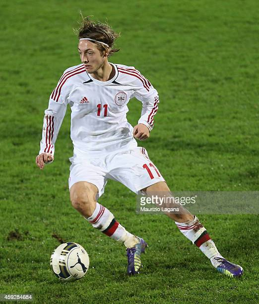 Rasmus Falk of Denmark during the international friendly match between Italy U21 and Denmark U21 at XXI Settembre stadium on November 17 2014 in...