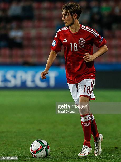 Rasmus Falk of Denmark in action during UEFA U21 European Championship semi final match between Denmark and Sweden at Generali Arena on June 27 2015...