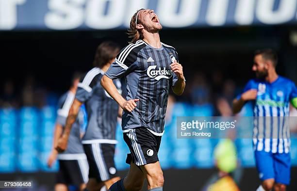 Rasmus Falk of FC Copenhagen in action during the Danish Alka Superliga match between Esbjerg fB and FC Copenhagen at Blue Water Arena on July 23...