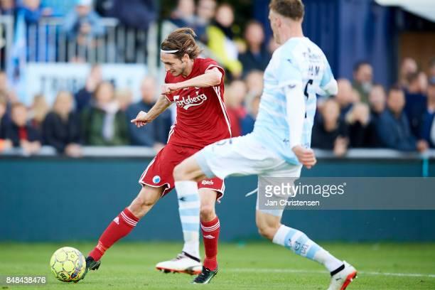 Rasmus Falk of FC Copenhagen in action during the Danish Alka Superliga match between FC Helsingor and FC Copenhagen at Helsingor Stadion on...