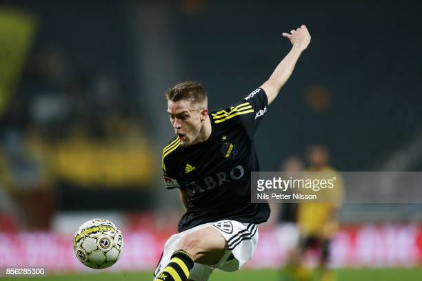 Rasmus Lindkvist of AIK during the Allsvenskan match between AIK and IF Elfsborg at Friends Arena on October 1 2017 in Solna Sweden