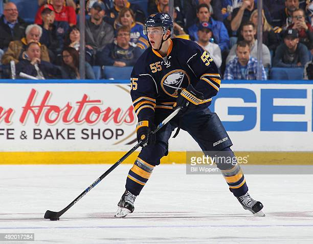Rasmus Ristolainen of the Buffalo Sabres skates against the Ottawa Senators on October 8 2015 at the First Niagara Center in Buffalo New York