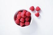 raspberries. fresh berries on white background