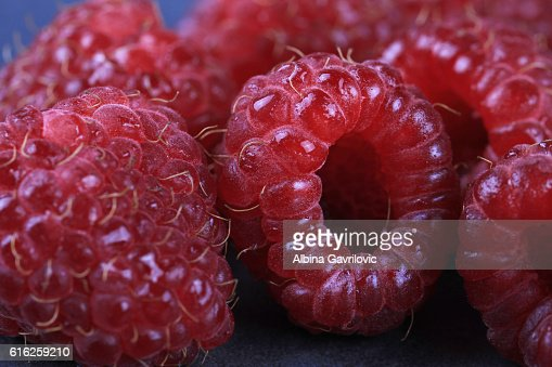 Raspberry close up , macro. Healthy eating concept : Stock Photo