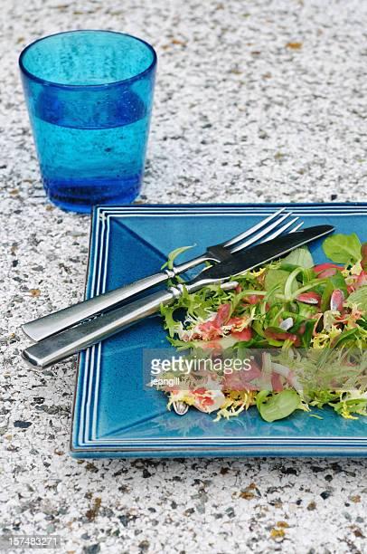 raspberry dressing on salad