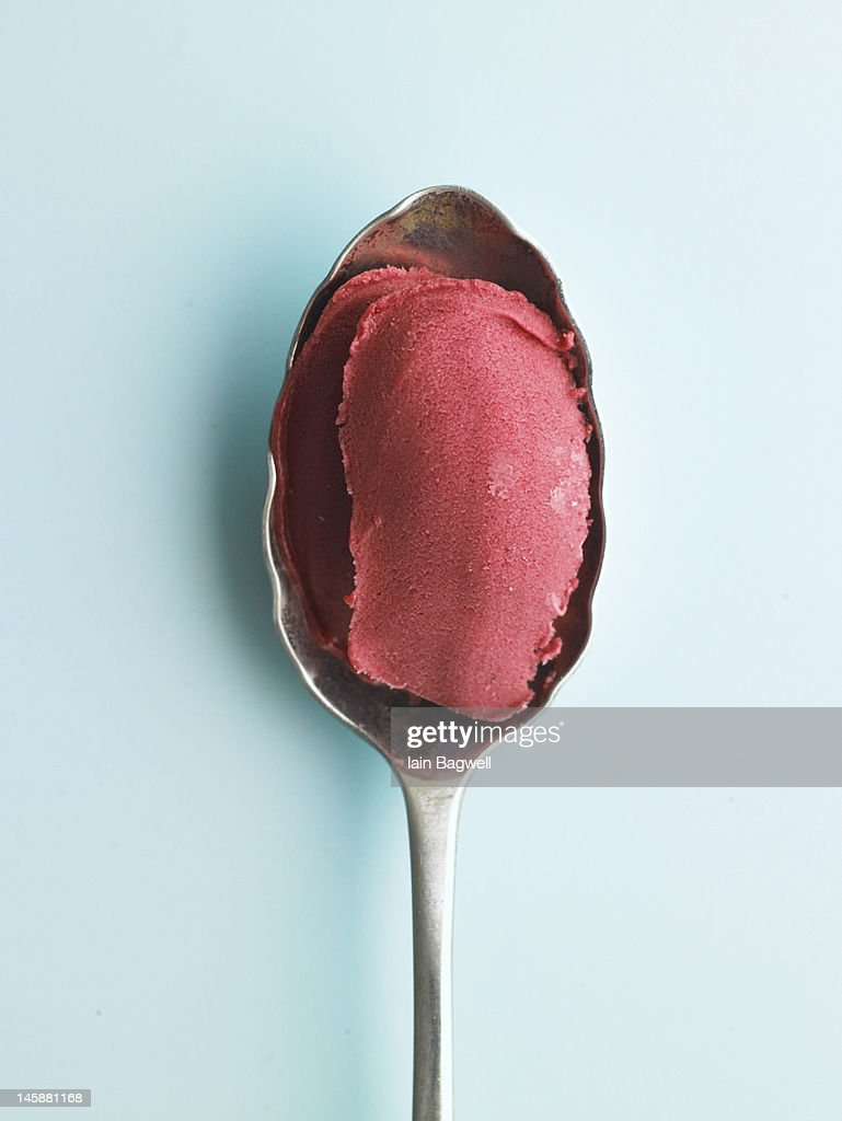 Raspberry Gelato : Stock Photo