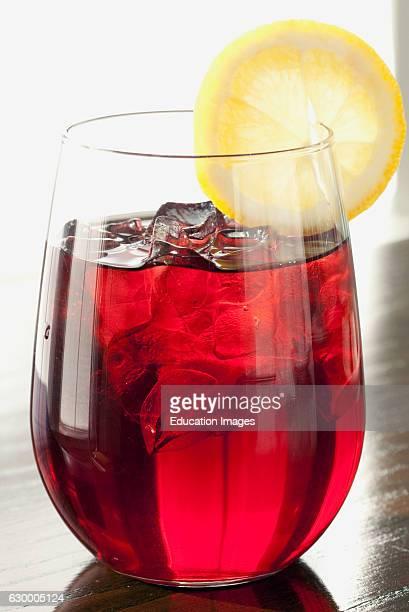 Raspberry iced tea with lemon Kennebunkport ME