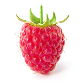 Raspberry isolated on white