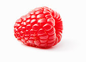 Raspberry lying on white background