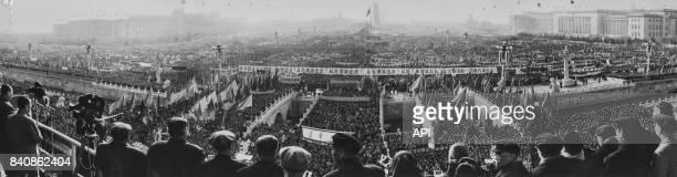 Rassemblement à Pékin de soutien à la lutte du peuple congolais pour son indépendance le 29 novembre 1964 Chine