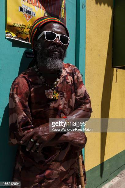 A Rasta guide Record producer and founder of Island Records Chris Blackwell takes a personal tour around Jamaica photographed for Paris Match on...