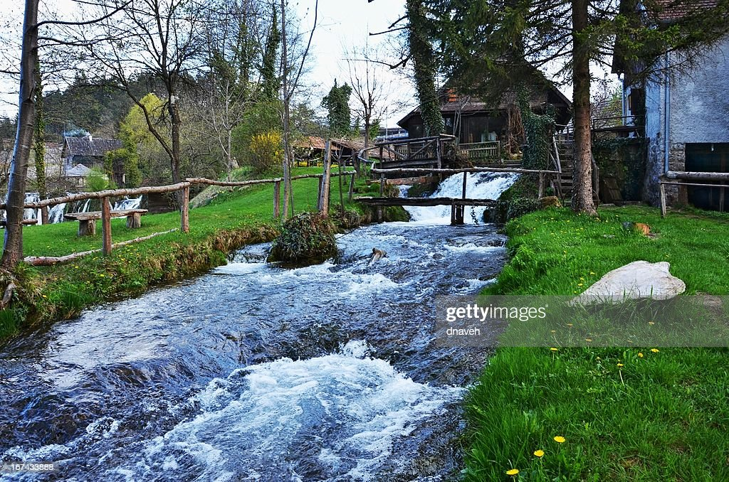 Rastoke Village (Korana River), Croatia : Stock Photo
