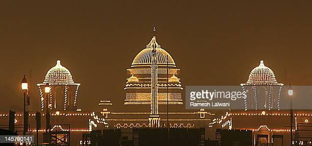 Rastrapati Bhawan lights