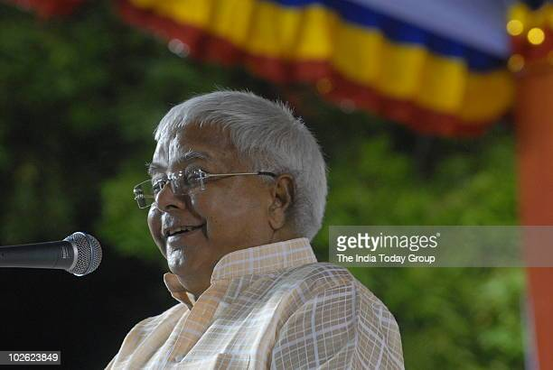 Rastriya Janatha Dal leader Laloo Prasad Yadav addresses a public meeting in Chennai on Friday July 2 2010