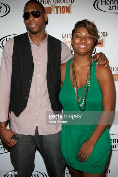 Rasual Butler and Toccara arrive at the Common Ground Foundation's 'Common Friends' Concert at the Hollywood Palladium on September 26 2009 in...