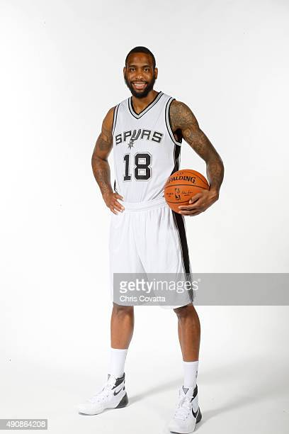 Rasual Butler of the San Antonio Spurs poses for a portrait during media day at the Spurs Training Facility on September 28 2015 in San Antonio Texas...